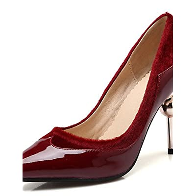 Ggx femme Chaussures en velours Stiletto Talon Bout Pointu talons Chaussures  de mariage b496a0765b14