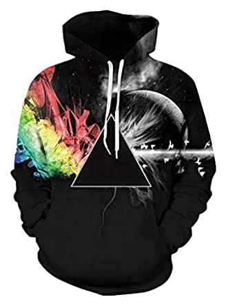miduo 3D Hoodies Sweatshirts Men Women Hoodie Casual Fashion Brand Hoodie Coats (Black, S)
