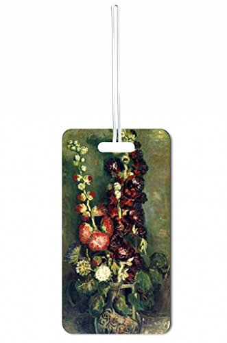Vincent Van Gogh Vase with Hollyhocks Rosie Parker Inc. Set of 8 Luggage Tags with Personalized Back