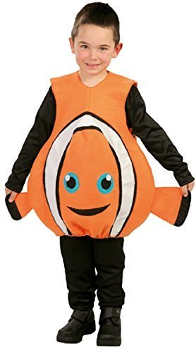 Boys Girls Movie Clownfish Orange World Book Day Week TV Book Film Fancy Dress Costume Outfit 5-12 Years (10-12 Years) -