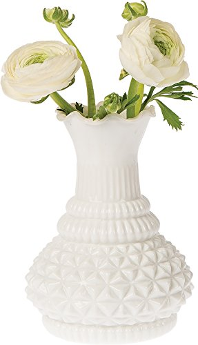 Amazon Luna Bazaar Vintage Milk Glass Vase 575 Inch Sophia