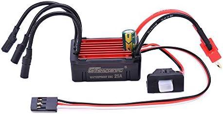 25A ESC per 1:16 1:18 RC Buggy Drift Auto da Corsa DishyKooker G-TSKYTENRC Combo 2435 4500KV 4800KV Brushless Motor w
