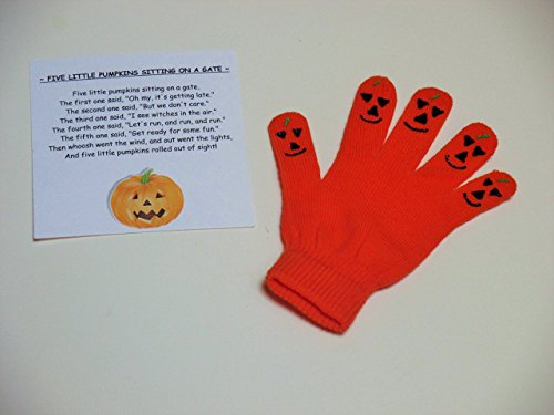 Pumpkin hand puppet, finger play activity, story telling, counting activity