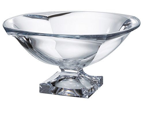 Barski - European Quality Glass - Lead Free - Crystalline - Centerpiece - Footed Bowl - 13