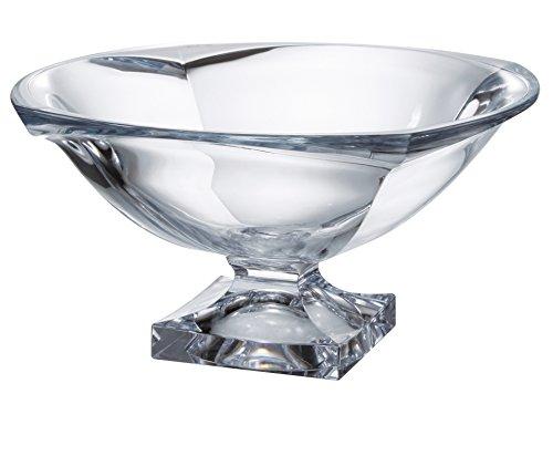 (Barski - European Quality Glass - Lead Free - Crystalline - Centerpiece - Footed Bowl - 13