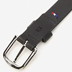 Plain Narrow Leather Belt 118-13-1097: Black