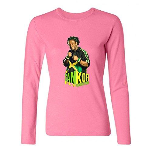 Tommery Women's Kofi Kingston Long Sleeve Cotton T (Kofi Kingston Kids)