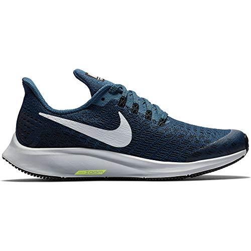 Nike Boy's Air Zoom Pegasus 35 Running Shoe Blue Force/White/Black/Wolf Grey Size 1 M US -