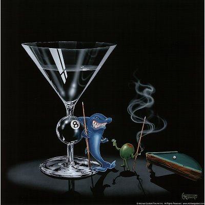 (12x12) Michael Godard (Pool Shark) Art Poster Print