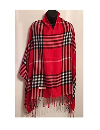 Red_(US Seller)Long Soft Stole Shawl Wrap 76
