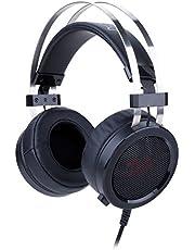 Redragon H901 SCYLLA - Cascos headset para Gaming - Audio de Alta Definición + Potentes Bajos - Auriculares de Diadema con Micrófono para Videojuegos PC, Móvil, PS4 - Incluye adaptador TRSS estéreo