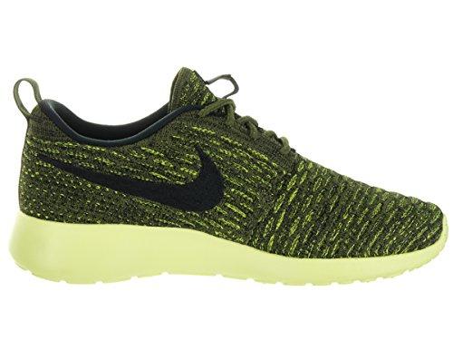 Donne Nike Roshe Uno Flyknit Pattino Corrente Rought Verde Volt Nero Ligh Lime Liquido 301