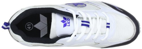 Lico Marvin 110076 - Zapatos para correr para hombre Blanc (Weiss/Royalblau)