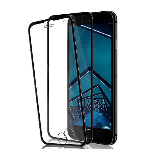 iPhone 8 Plus/7 Plus/6S Plus/6 Plus Screen Protector by BIGFACE,[2 Pack] Full Coverage Premium Tempered Glass,9H Hardness,Anti Scratch,Anti-Bubble 3D Touch Accuracy Film for iPhone 8P/7P/6SP/6P-Black