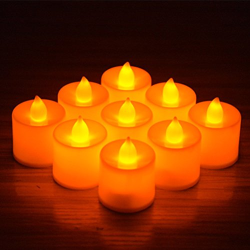 24pcs Battery Operated Candles,Winzik Flameless LED Tealight Candles,Votive Style,Valentine's Day Romantic Date,birthday - Date Valentines