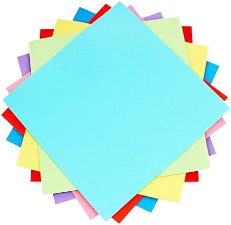 CUTICATE 約100枚入り 折り紙 カラーペーパー 片面 DIY ペーパー アート クラフト 全3サイズ - 20x20c