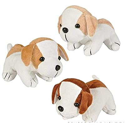 Rhode Island Novelty 6 Inch Assorted Adorable Plush Puppy Dogs Set of 12: Toys & Games