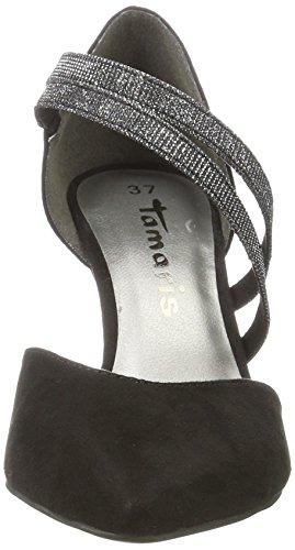 alla Donna Nero Cinturino 24406 Sandali con Caviglia Silglam Black Tamaris InxqHUwCI