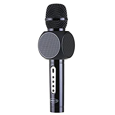 Wireless Microphone Karaoke,Amicool Portable Karaoke Player Speaker for Apple iPhone Android Smartphone Or PC, Home KTV Outdoor Party Muisc Playing Singing Anytime