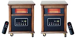 Lifesmart Zone Heating Pack Includes 2 Medium to Large Room Infrared Heaters w/Remotes