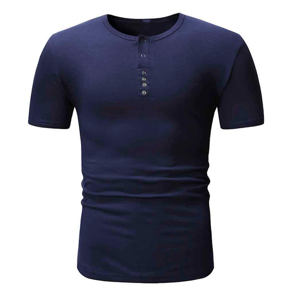Men's Size Tall Short-Sleeve Beefy T-Shirt (Pack of Two) Dark Blue