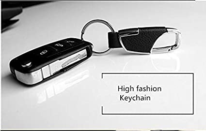 car-Styling Leather Key Chain Metal Tool Key Holder for Infiniti EX25 EX35 EX37 FX35FX37s FX50s G25 G37 G37s M25 M37 M25L M35hl Color Name: Black