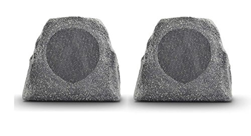 Ion Audio Solar Stone Glow Pair Wireless All-Weather Rechargeable Speaker with Ambient Backlighting by Kramer