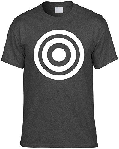 Mens Funny T-Shirt Size 2X (BULLS EYE (TARGET IMAGE) Unisex Shirt