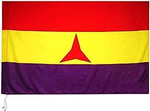 Desconocido Bandera Republicana Republica ESPAÑOLA BRIGADAS INTERNACIONALES Estrella Tres Puntas 150 CM Grande 150 Cm 1,5 Metros: Amazon.es: Hogar