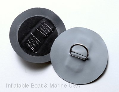 (Inflatable Boat D-ring Pad/ Patch-Small- Hypalon Gray 4