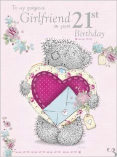 Large me to you girlfriend 21st birthday card amazon kitchen large me to you girlfriend 21st birthday card bookmarktalkfo Choice Image