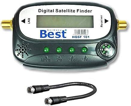 Medidor de señal satélite con Sonido, Cable de conexión, Conectores F Dorados para Ajustar tu Antena de satélite HD Compatible con TV.: Amazon.es: Electrónica