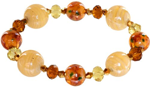 Bracelet Glass Gold Murano (Lova Jewelry