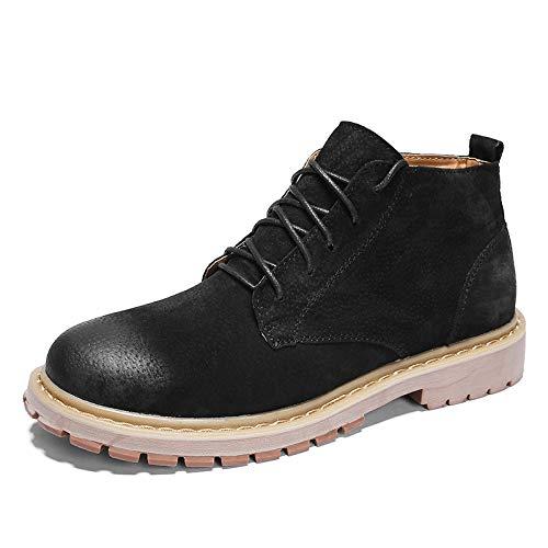 Shukun Herren Stiefel Winter Men's Leather schuhe High schuhe Leather Men's Retro Martin Stiefel Men's Cotton Warm Tooling Stiefel Casual schuhe Wild schuhe 60fb9a