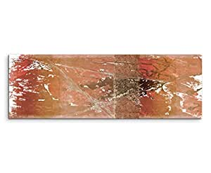 120x 40cm Imagen panorámica Lienzo abstracto impresión (imagen de pared de color marrón gris beige Textura