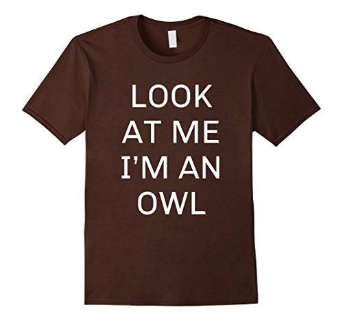Owl Costumes Diy (Mens I'm an Owl Halloween Costume Shirt Women Men Kids XL Brown)