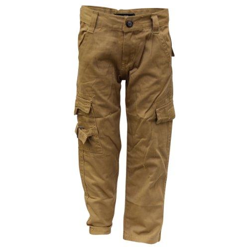 Coney Isle Boy's Twill Cargo Pants (4-7) - Khaki - 5