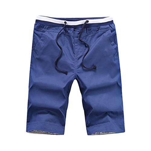 PASATO 2018 New Hot Classic Mens Shorts Swim Trunks Quick Sport Beach Surfing Swimming Water Pants(Blue, ()
