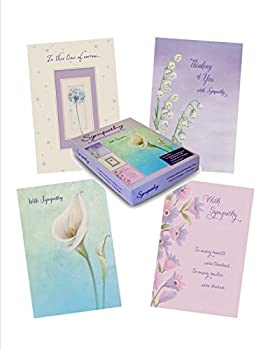Designer Greetings Foiled Embossed Sympathy Greeting Cards, Assorted (658-00113-000)