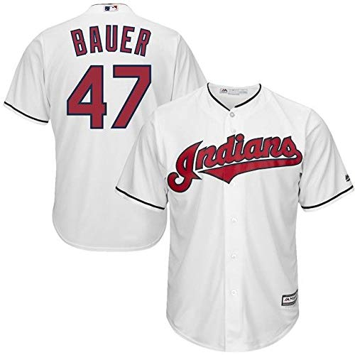 Majestic Majestic Trevor Bauer B07J4V98GL Cleveland Indians XXL White Player Official Cool Base Player Jersey スポーツ用品【並行輸入品】 XXL B07J4V98GL, 靴の通販ダイシンシューズ:ffa4c717 --- cgt-tbc.fr