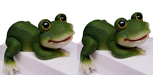 Frog Shelf Sitter (Frog Figurines, Shelf Sitter, Set of 2, 8.5