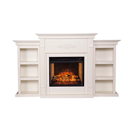 Southern Enterprises, Inc.  Infrared Electric Fireplace (Amish Glass Bookcase)