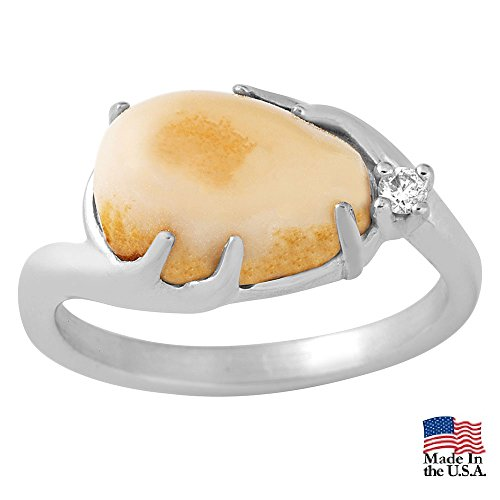 Sterling Silver Elk Ivory Ring product image