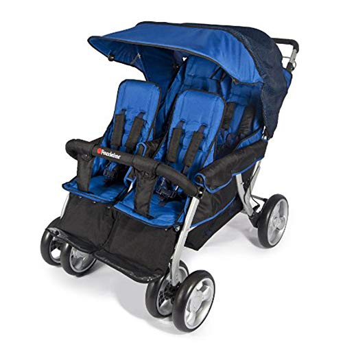 Thaweesuk Shop Blue Regatta Foundations LX4 4-Passenger Stroller Steel Fabric Plastic Rubber 39.5 inches High x 33 inches Wide x 48.5 inches Long of -
