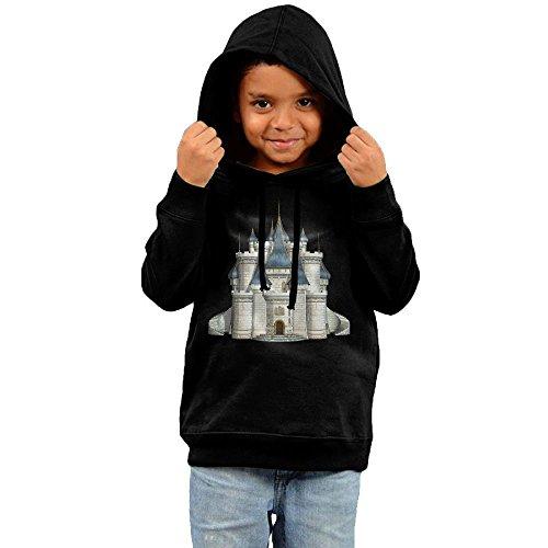 ZheuO Boys & Girls Infant Dream Fairy Tale Castle Classic Hoodie Sweatshirt 2 Toddler Black