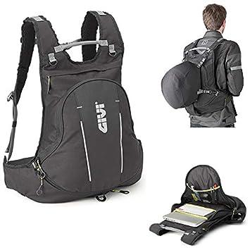 GIVI Moto Guzzi EA104B - Mochila Extensible para Casco, Ordenador portátil, 22 l, Color Negro: Amazon.es: Coche y moto
