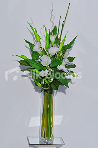 Amazon Gorgeous White Calla Lily And Green Goddess Lily Vase