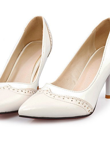 Trabajo white Tacón Zapatos mujer y Oficina white eu42 5 Patentado 5 Tacones white cn43 Casual us10 Cuero 5 GGX eu42 uk8 cn43 Cono cn42 Tacones 8 uk8 uk7 5 Blanco de Puntiagudos eu41 5 Negro us10 us9 5 10 tvAnqdw