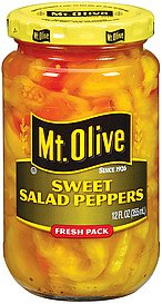 Mt. Olive Sweet Salad Peppers 12 Oz (Pack of 3) (Pepper Salad)