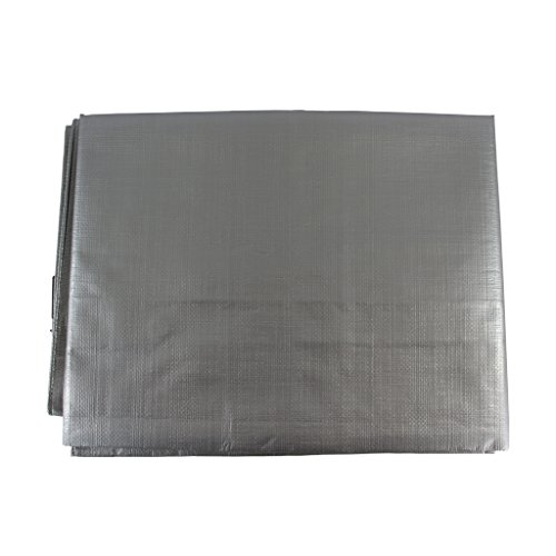 (SGT KNOTS Waterproof Tarp 20 x 30 feet 10 mil Thickness - All Weather/Purpose Heavy Duty Silver Poly Tarp - Rust-Proof Grommets - for Camping, Hunting, Tent Fly, Painting, Canopy, Cover)